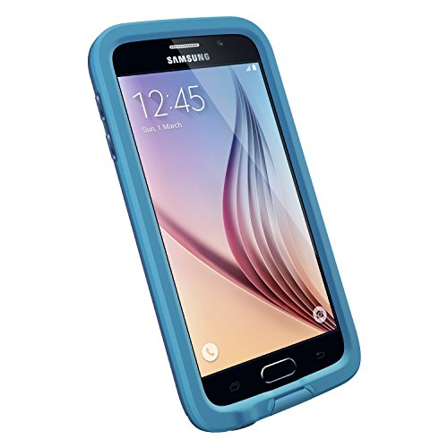 LifeProof FRE Samsung Galaxy S6 Waterproof Case - Retail Packaging - BASE JUMP BLUE (BASE BLUE/SNOWCONE BLUE) (Blue Lifeproof Case compare prices)