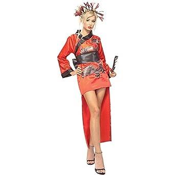 Amazon.com: Adult Dragon Lady (Standard): Geisha Costume: Clothing