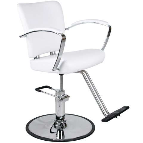 Modern white hydraulic styling chair salon equipment for White salon furniture