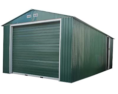Duramax 55261 12x32in Metal Garage Shed with Side Door from US Polymers Inc.