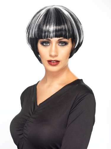 Smiffy'S Quirky Bob Wig, Black/Blonde, One Size