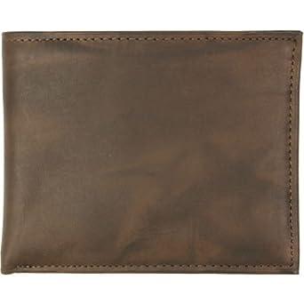 Rolfs Men's Brass Flip Fold Wallet, Brown, One Size
