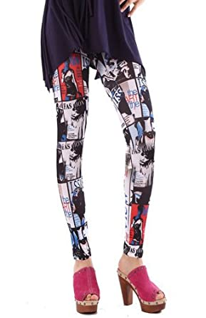 Printed Pattern Leggings (Printed Pattern Leggings Black)