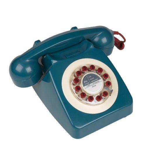 746 Classic Telephone - Blue/Red/Cream