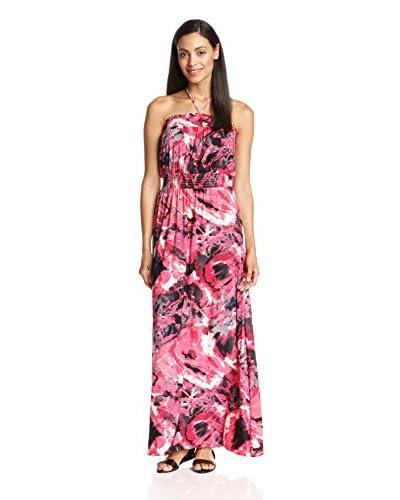 tbagslosangeles Women's Tube Dress Maxi with Neck Tie