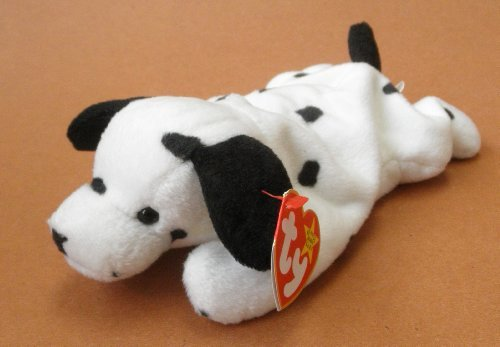 TY Beanie Babies Dotty the Dalmatian Dog Plush Toy Stuffed Animal - 1