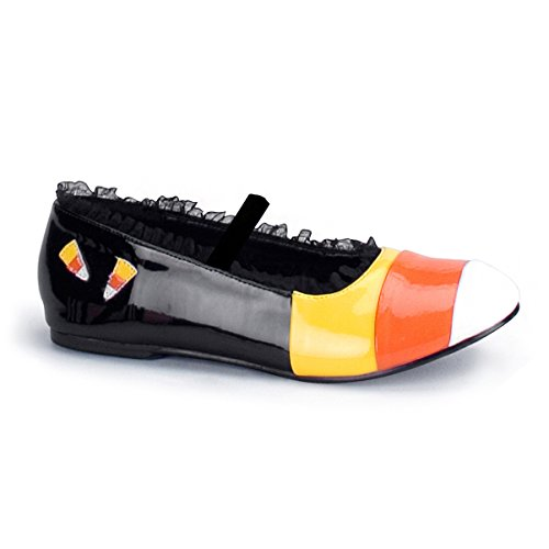 Sexy Candy Corn Halloween Costume Accessory Ballet Flat Black
