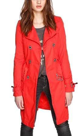 QS by s.Oliver Damen Trenchcoat Mantel 49.402.52.5780, Gr. 40 (Herstellergröße: L), Rot