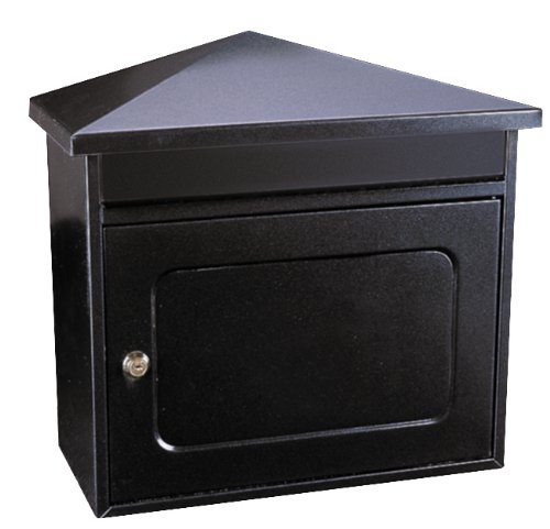 Worthersee Extra Large Steel Mail Box A4 Post Box Letter Box Black Anthracite