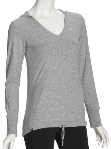 Nike Top Solid Womens Hooded Long Sleeve T-Shirt