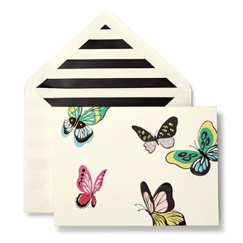 Kate Spade Flight Of Fancy Butterfly Stationery Set front-367092