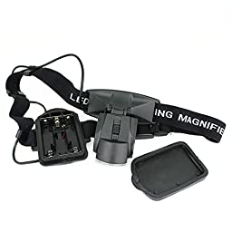 Neon® 2 LED Illuminated Headband Magnifier with 5 Interchangeable Lens Loupes Surgical Magnifying Glass (9892C)