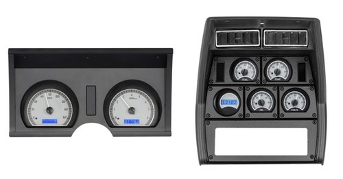 1978-82 Chevy Corvette VHX System, Satin Alloy Style Face, Red Display
