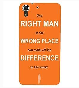 ColourCraft Quote Design Back Case Cover for HTC DESIRE 626