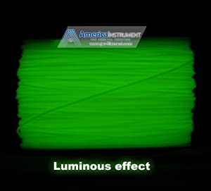 3mm ABS Glow Green in Dark Filament 1.0kg (=2.205 lbs) on Spool for 3D Printer MakerBot RepRap MakerGear Ultimaker & Up! - Jet