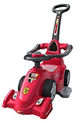 EZ' PLAYMATES BABY RIDE ON FORMULA CAR WITH NAVIGATOR RED