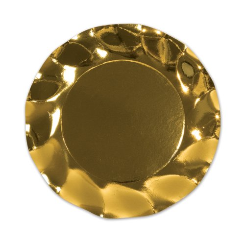 Metallic Gold Plates (10/Pkg)