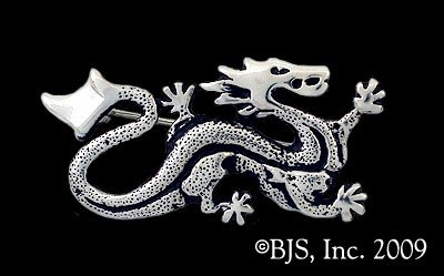 Sterling Silver Ashaman Dragon Pin TM Asha