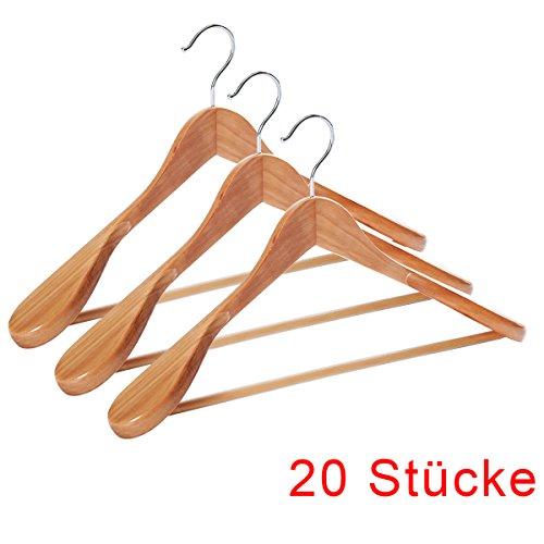 DXP 20 grucce appendiabili in legno per pantaloni e abiti con gancio essere ruotato 360° (20) RF93-1
