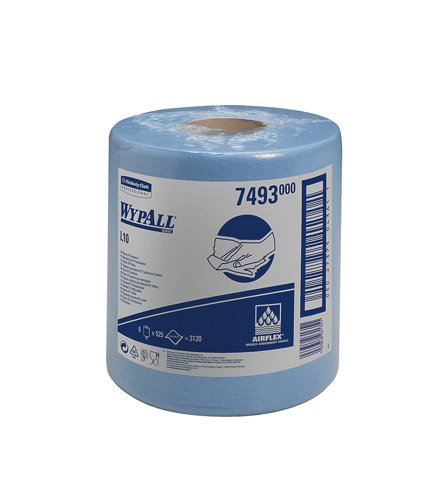 wypall-l10-wipers-centrefeed-airflex-500-sheets-per-roll-205x380mm-blue-ref-7126-7493-pack-6