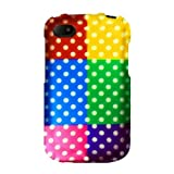 Graphic Rubberized Shield Hard Case For BlackBerry Q10 - Colorful Polka (Package Include A HandHelditems Sketch...