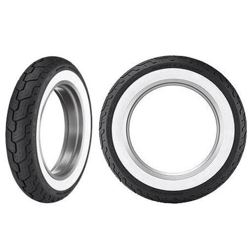 Dunlop D402 Harley-Davidson Tire - Rear - MT90-16 - Wide White Wall , Speed Rating: H, Tire Type: Street, Tire Construction: Bias, Position: Rear, Tire Size: MT90-16, Rim Size: 16, Load Rating: 74, Tire Application: Touring 301991