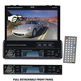 41paeuOqNsL. SL500 AA280  Pyle PLTS77DU 7 Inch Single DIN In Dash Motorized TFT/LCD Touchscreen Car Receiver   $200 Shipped