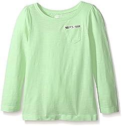 Crazy 8 Little Girls' Creamy Melon Sequin Pocket Knit Top, Creamy Melon, Small/5-6