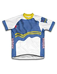 Aruba Flag Short Sleeve Cycling Jersey for Women