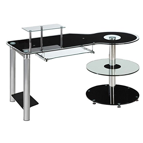 Innovex Orbit Desk Black And Clear Electronics Computers