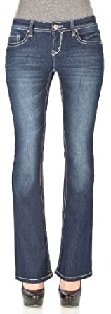 WallFlower Juniors Basic Legendary Bootcut Jeans in Britney Size: 0