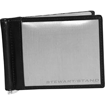 Stewart/Stand RFID Blocking Leather Accent Money Clip Bill Fold - Black
