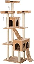 """PawHut 71"""" Scratching Cat Tree Pet Furniture Tower House with Post and Condo Beige"""