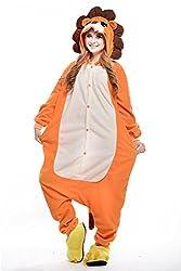 VU ROUL Boy's Adult Kigurumi Cosplay Animal Costume Lion Pyjamas