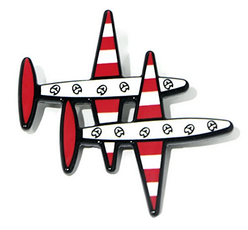 Clip a plane Brooch for backpacks, clothing, girls, pack, jeans, set, kids, men, boy (Kirby Lapel compare prices)