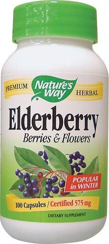 Nature'S Way Elderberry Berries & Flowers 575Mg Capsules - 100 Ct