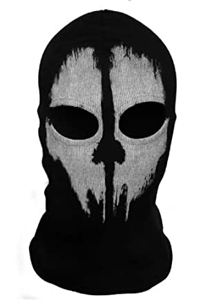 Wowtowow Cool Bike Skateboard Hood Cos Terrorists Costume Face Skull Ghost Mask Mask