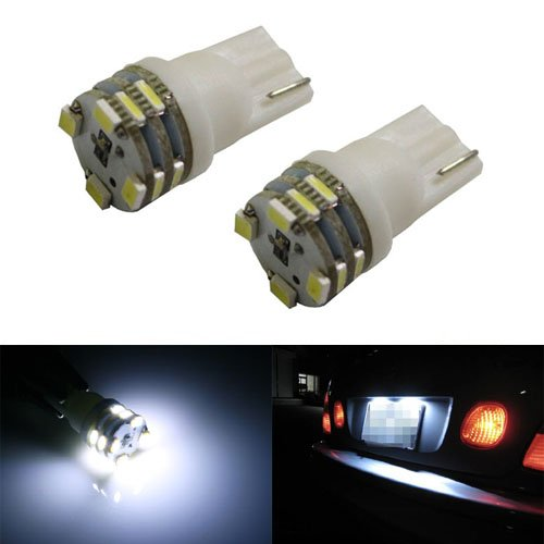 Ijdmtoy 12-Smd 168 194 2825 T10 Led License Plate Light Bulbs, Xenon White