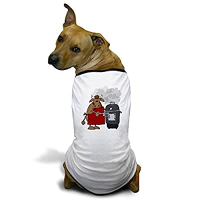 CafePress Cow Cooking On A Smoker Grill Dog T-Shirt