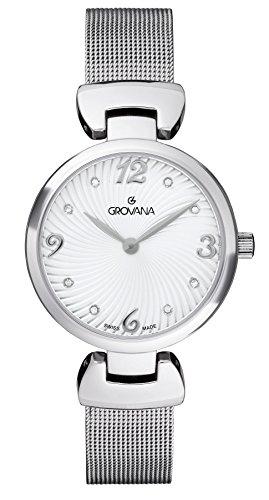 GROVANA - 4485.1132 - Montre Femme - Quartz - Analogique - Bracelet Acier inoxydable argent