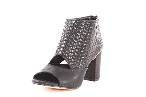 J274P FRANCESCOMILANO sandalo donna con tacco (40, Nero)