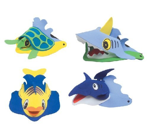 Rhode Island Novelty Sea Animal Visors, Ocean Creature Hat, Costume, Party Favor (1 Dozen)