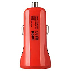 BASEUS �� CCALL-CR09 TINY COLOR CAR CHARGER WITH DUAL USB 2.1 AMP