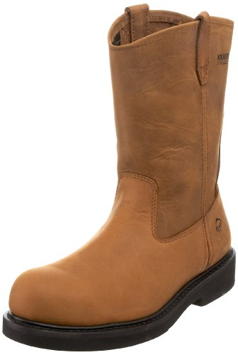 Wolverine Men's Ingham W06683 Work Steel toe Boot,Dark Brown,12 M US