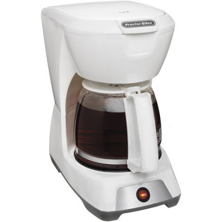 Proctor Silex 12-Cup Coffee Maker, Easy-view water window (White) (Cafeteria Coffee Maker compare prices)