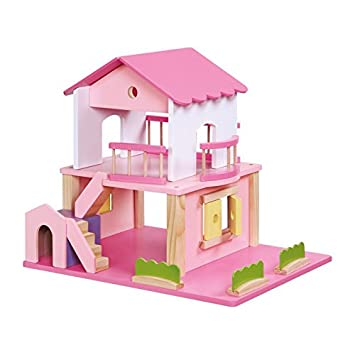 Small Foot Company - 2228 - Maison De Poupée - Rose Fluo
