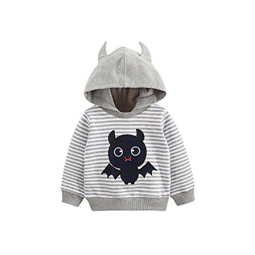 Huluwa Little Boys' Hoodie Monster Print Sweatshirt for Toddlers Girls Kids
