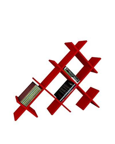 Dekorister Librería Discuss Rojo 22x118,1x94,5cm