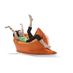 Large Big Hug Eco Indoor or Outdoor Bean Bag - Tangerine by The Cowshed