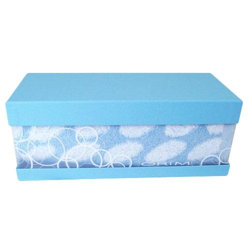 バブルBOX フェイスタオル ブルー